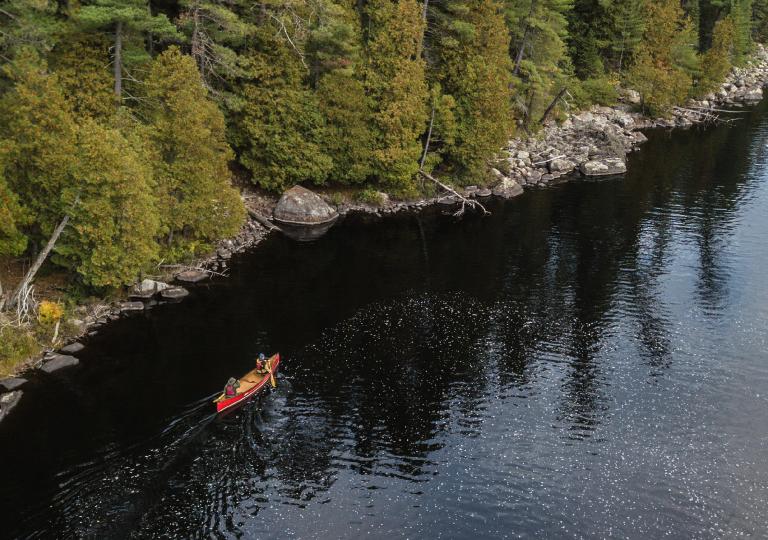 h&a paddling down river
